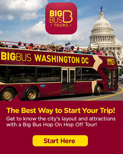Hop-On Hop-Off Big Bus Washington DC tickets