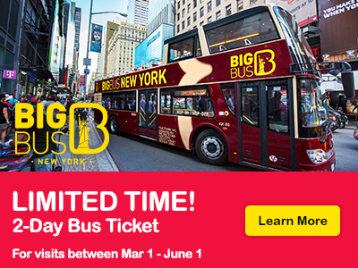 Hop-On Hop-Off Big Bus New York tickets