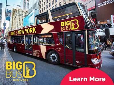 Hop-On Hop-Off Big Bus New York ingressos