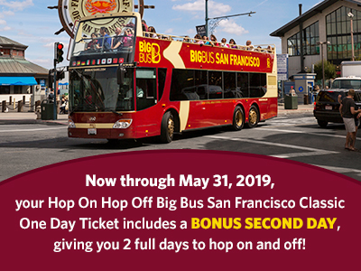 Hop-On Hop-Off Big Bus San Francisco 张门票
