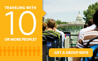 Purchasing 10 or more Go Washington DC Card attraction passes? Get a group rate.