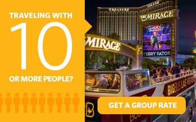 Purchasing 10 or more Go Las Vegas Card attraction passes? Get a group rate.