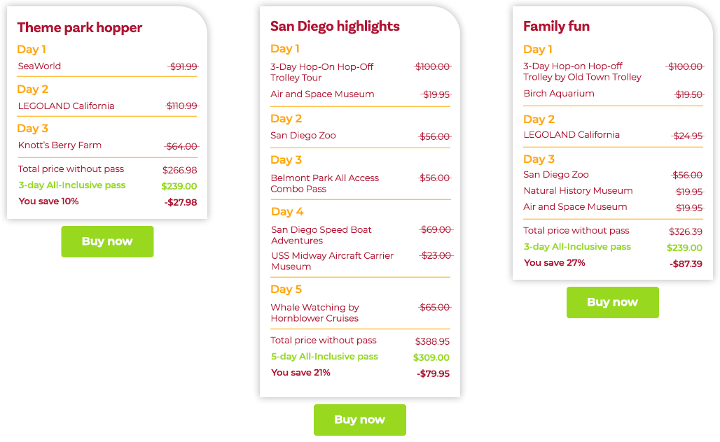 San Diego Itineraries