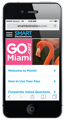 Go Miami Card online guidebook