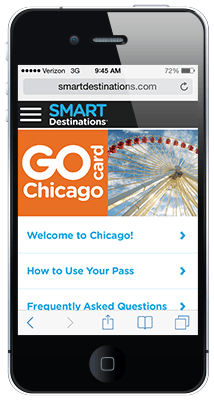Go Chicago Card online guidebook