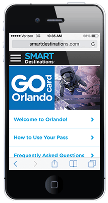Go Orlando Card online guidebook
