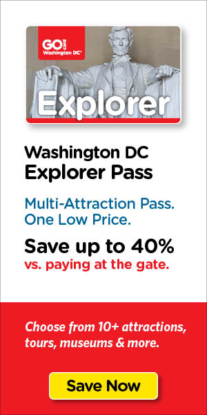 Save on Washington DC's top tours & attraction tickets.