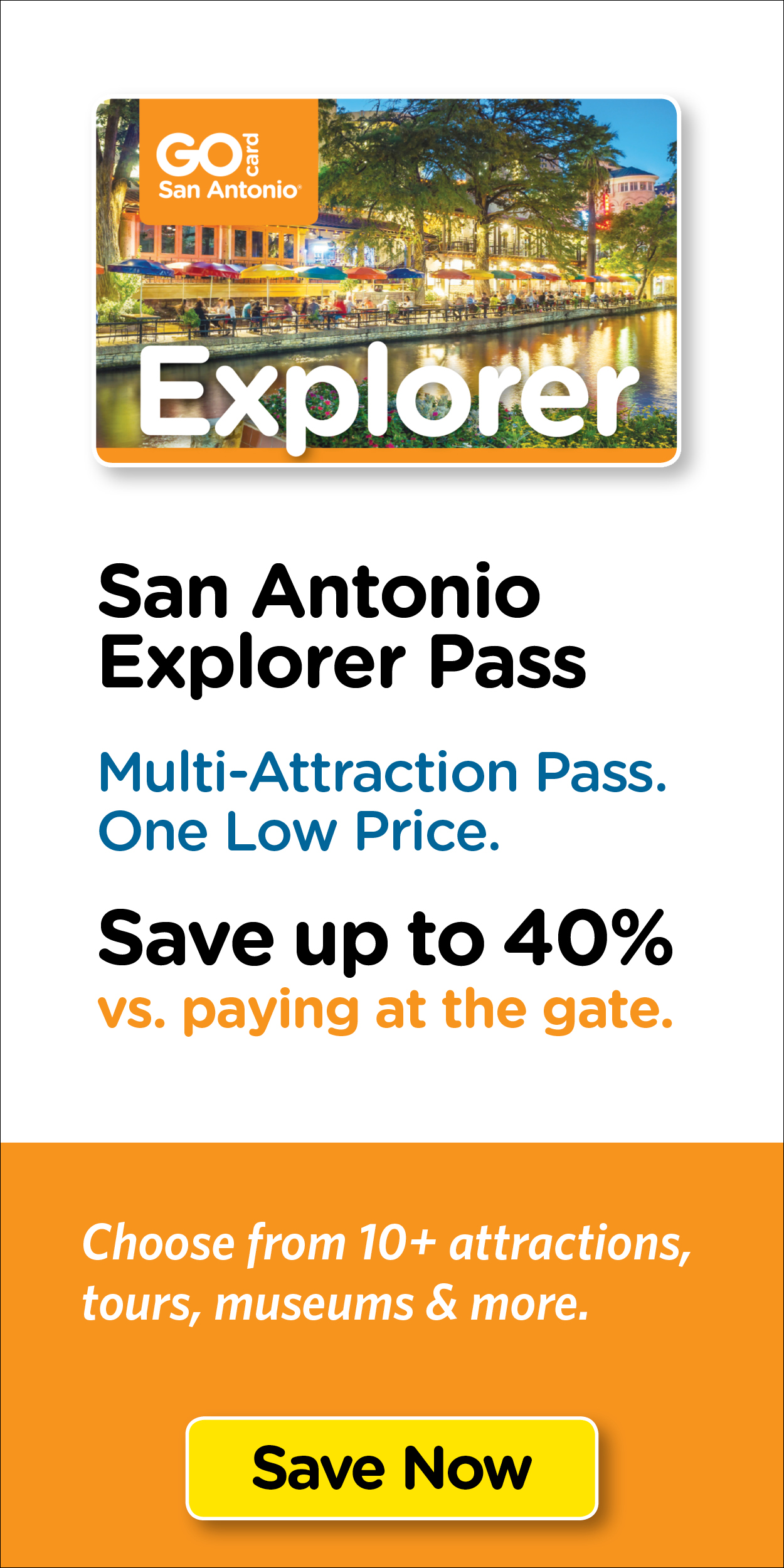 Save on San Antonio's top tours & attraction tickets.