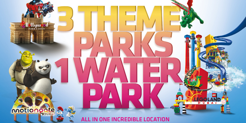 Dubai Parks and Resorts Hopper - 2 Parks 1 Day Pass - Save Up to 52% Off