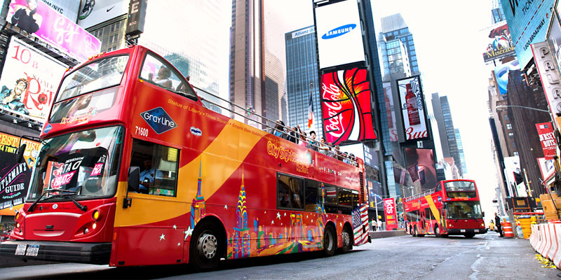 City sights bus tours of new york city