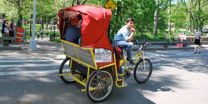 Giro di Central Park in Pedicab 1