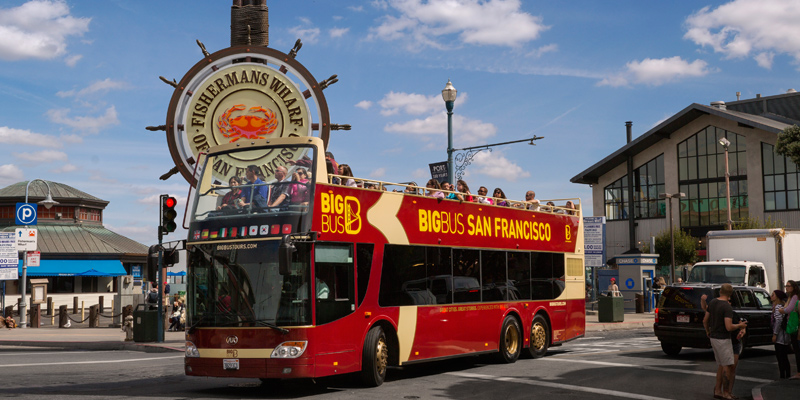 Hop On Hop Off Big Bus San Francisco Bus Tour Save Up To 60 Off