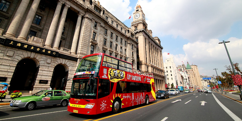 Shanghai City Sightseeing Hop-On Hop-Off Bus Tour: 48-Hour Ticket 都市观光巴士