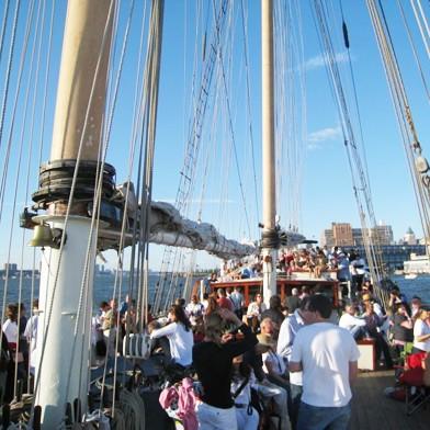 Clipper City Tall Ship Sail by Manhattan by Sail