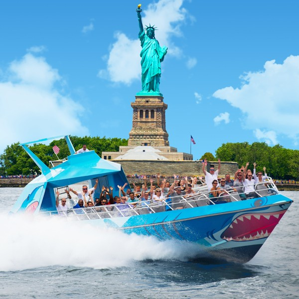 SHARK Speedboat Thrill Ride: New York Water Taxi