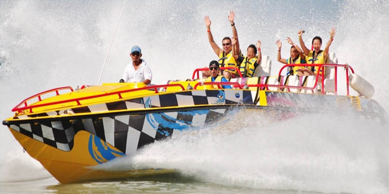 AquaTwister Speedboat Thrill Ride at AquaWorld