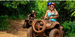 ATV, Ziplines and Cenote Combo Tour at Extreme Adventure Park – Half Day Experience
