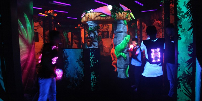 Laser Tag Game and Mini Movies at Thrill Zone