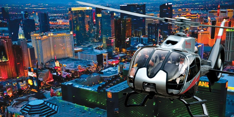 Las Vegas Strip Helicopter Tour: A Night Flight Over The Las Vegas Strip