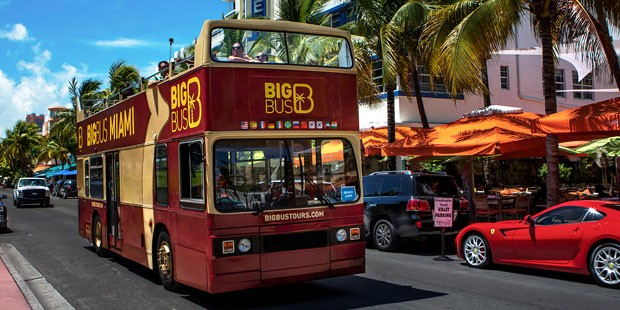 Hop-On Hop-Off Großer Bus Miami 1 -Tag All-Loops-Tour