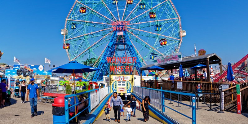 Deno's Wonder Wheel en Coney Island