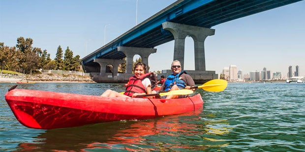 Bike and Kayak Tours Coronado : location de kayak tandem pour 90 minutes