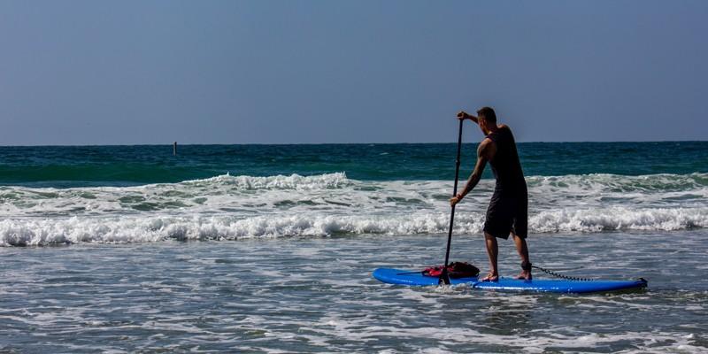 自行车和皮筏艇拉霍亚之旅:站立桨板租赁